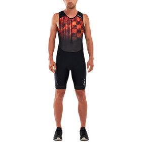 2XU Perform Combinaison avec avec zip frontal Homme, midnight/fresh ombre